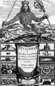 Leviathan by Thomas Hobbes, {{PD-US}} – published in the US before 1923 and public domain in the US.
